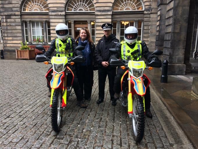 Edinburgh police Honda CRF